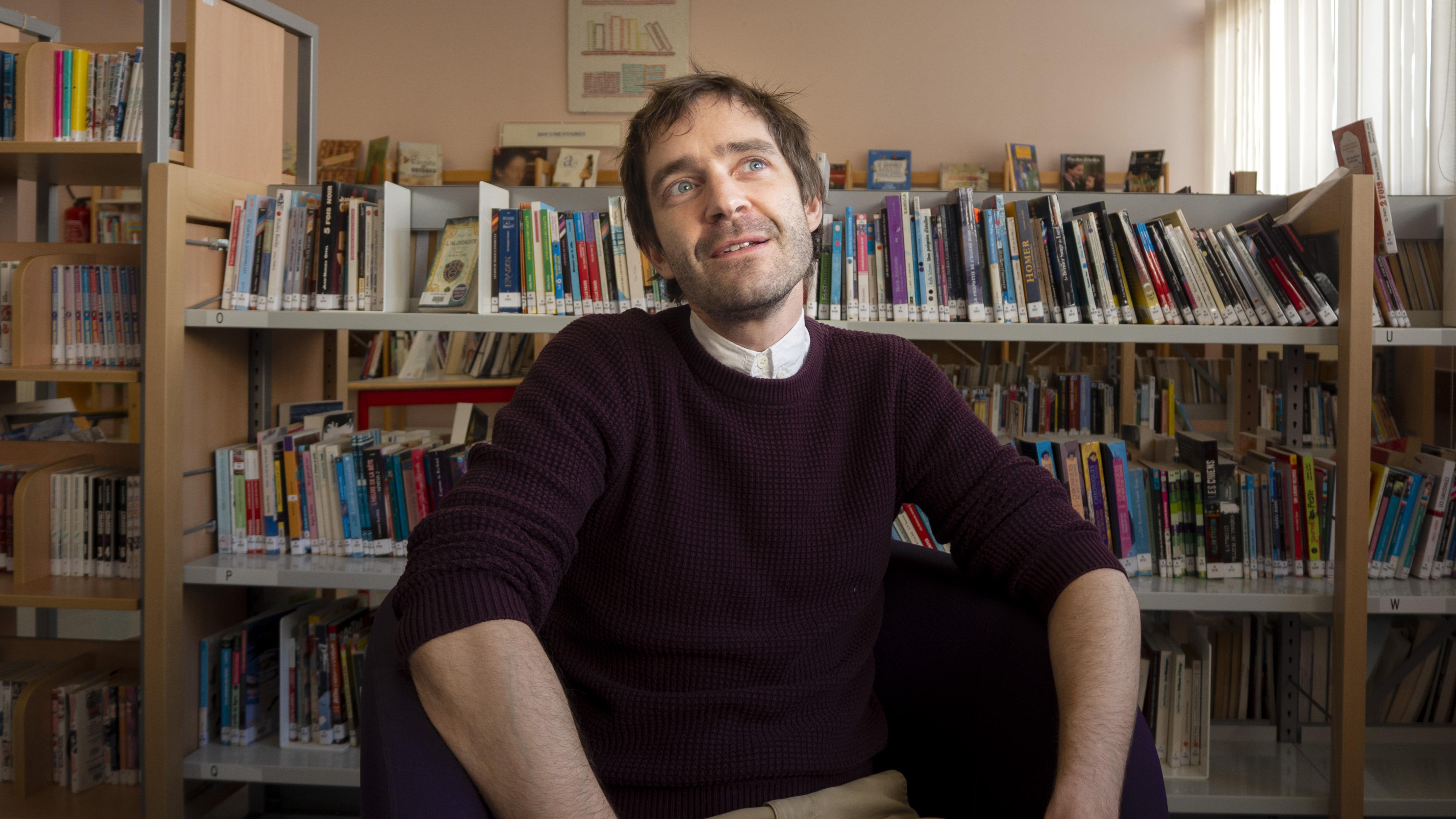 Luc Cerutti au collège Maria Callas de Courtry