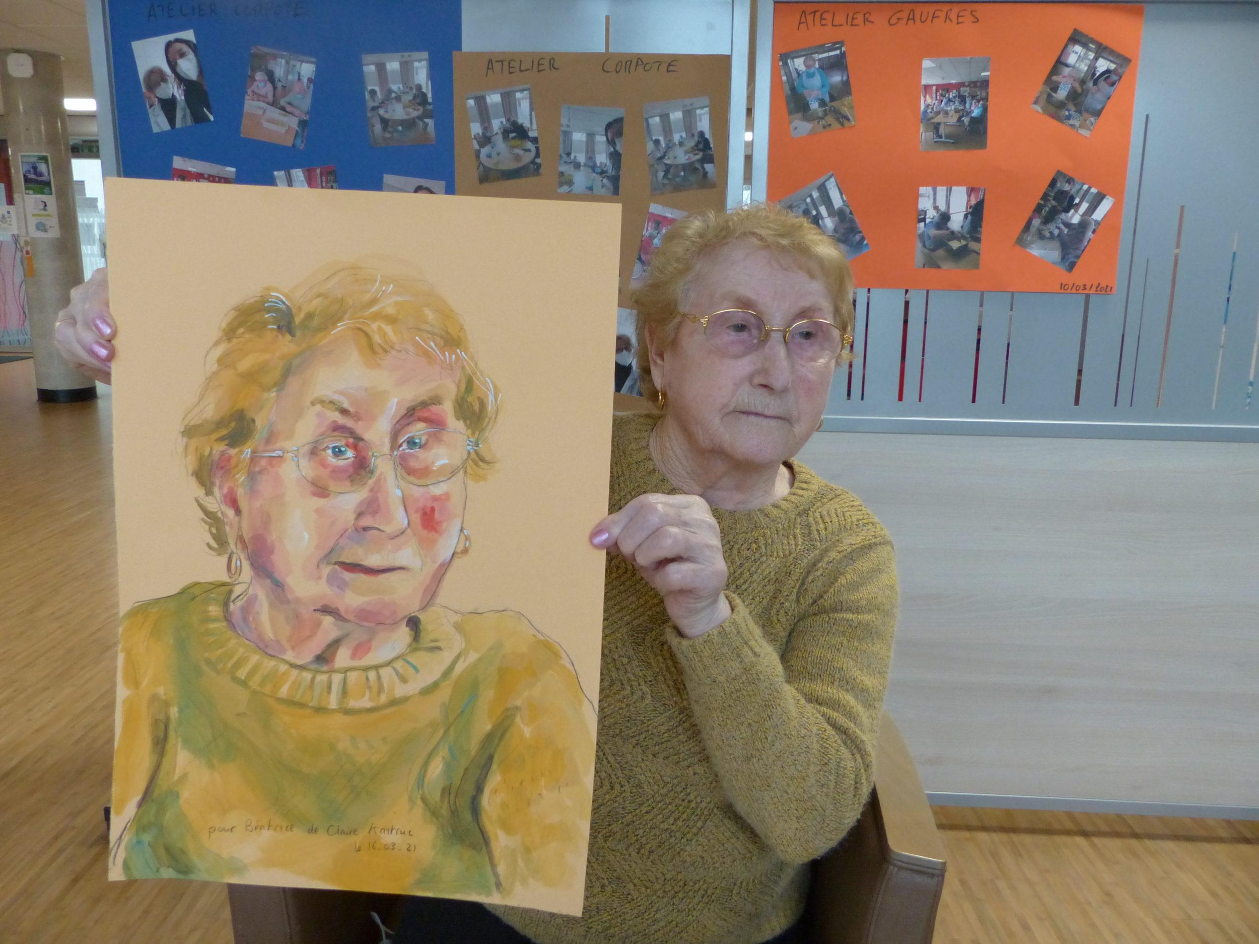 Béatrice et son portrait par Claire Astruc