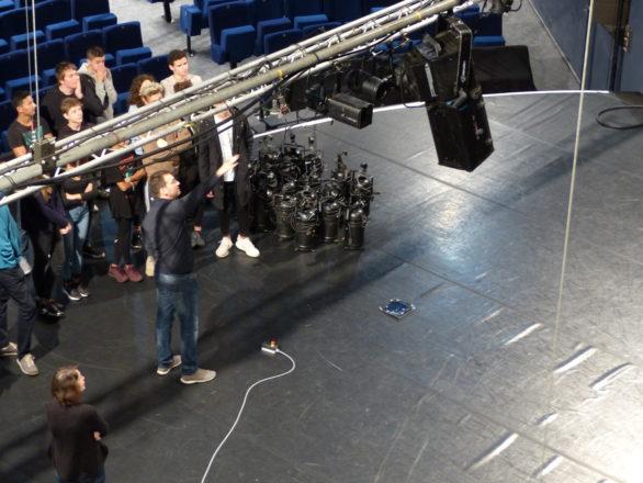 Visite technique du théâtre - ©Théâtre de Chelles